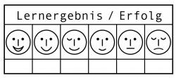 Elbi Lehrerstempel - Erfolgsstempel - 6 Smileys