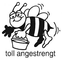 Stempel toll angestrengt
