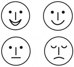 Stempelset 4 x Smileys