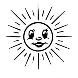 Stempel Sonne, strahlend