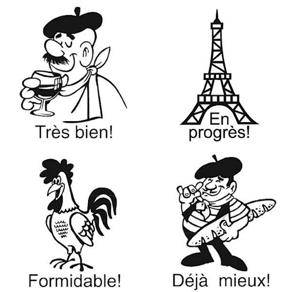 4 x Französischstempel