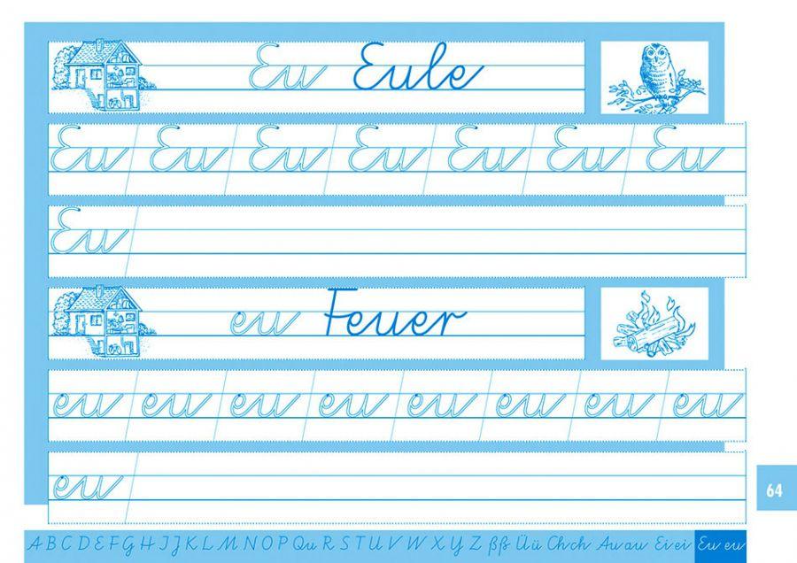 Elbi Schreiblehrgang Vereinfachte Ausgangsschrift - Schreiben lernen / ABC lernen - für Grundschule, Förderschule und Flüchtlinge in Übergangsklassen oder Intensivklassen
