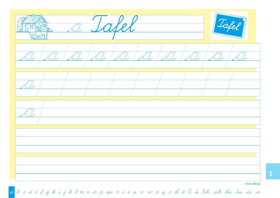 Elbi Schreiblehrgang Lateinische Ausgangsschrift - Schreiben lernen / ABC lernen für Grundschule, Förderschule und Flüchtlinge in Übergangsklassen oder Intensivklassen